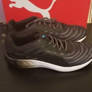 Puma Shoes - Puma Flare Graphic Black Running Shoes Mens 11